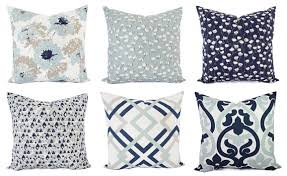 Navy Blue And White Decorative Pillows