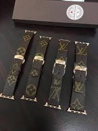 louis vuitton apple watch band. handmade louis vuitton apple watch band