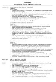 Support Product Specialist Resume Samples Velvet Jobs