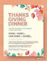 Free Thanksgiving Dinner Flyer Template In Adobe Photoshop