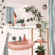 Beautyday Badezimmer Deko Bathroom Bad Illus