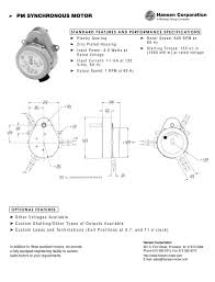 pm synchronous motor 1 1 pages
