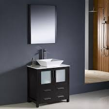 Shop Fresca Torino Espresso Single Vessel Sink Bathroom Vanity ...