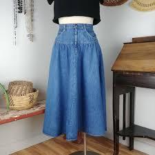 Candies Denim Skirt Mid Calf Xs Approx 25in Waist