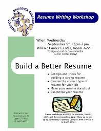Resume Writing Workshop 6 Return To Event Calendar Flyer