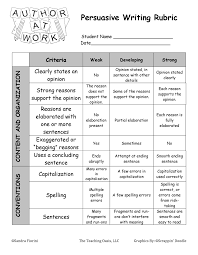 Persuasive Essay Rubric Writing Ideas For Third Grade Back To School Product Premiere