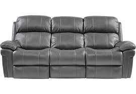 leather sofas with recliner trevino smoke power reclining sofa gray