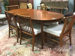 white furniture mcm dining table chairs