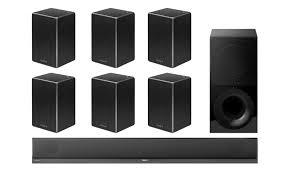 sony home theater wireless. sony ht-ct800 2.1 soundbar and wireless subwoofer w/ srs-zr5 speakers x6 \u2013 bundle home theater