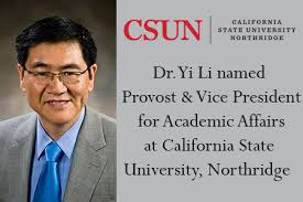 Academic Provost Dr New Yi Affairs For Vice President At Li And 8qq4w7a