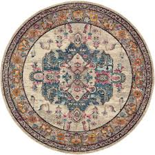 amazing 8 ft round area rugs inside unique loom palazzo beige x rug 3136274 the