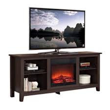 electric fireplace heater with 26 u2033 mantle realistic flame dark