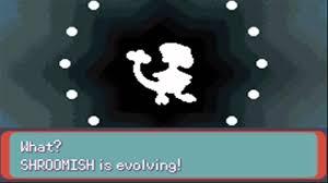 Shroomish Evolution Chart Pokemon Emerald Shroomish Evolves To Breloom
