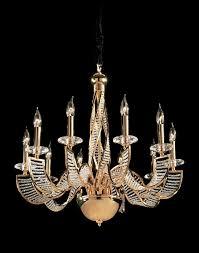 endon 96420 rhapsody 10 light 24 carat gold plate crystal ceiling light enlarge image