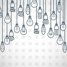 Light Bulbs Hanging On Cords Semicircle Lamp Frame Vector Image Of