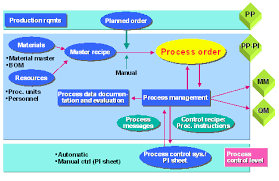 Data Flow During Process Manufacturing Sap Library