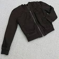 Hp Girls Brown Quilted Bomber Jacket