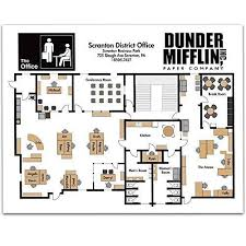 The office floor plan Bike Shop Floor Personalized Signs By Lone Star Art Amazoncom Amazoncom Dunder Mifflin Floor Plan 11x14 Unframed Art Print