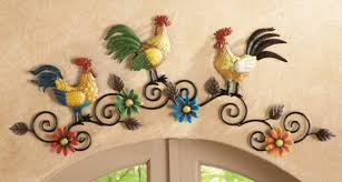 decorative vibrant spring rooster chicken decor plaque country kitchen metal wall scrollwork art tuscan french sunflowers on kitchen metal wall art ideas with country kitchen wall decor ideas exist decor
