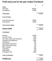 Profit And Loss Statments Profit And Loss Examples Under Fontanacountryinn Com