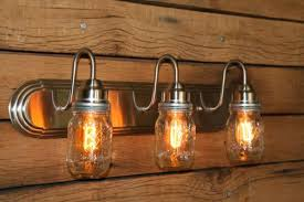 vintage looking diy mason jar lights