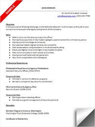 Download Security Officer Resume Sample Resume Examples Unique Security Officer Resume