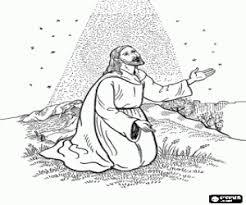 Kleurplaat Het Gebed Van Jezus In De Tuin Kleurplaten
