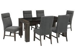 7 piece black dining room set. Ashley Signature Design Chansey7-Piece Rectangular Dining Table Set 7 Piece Black Room R