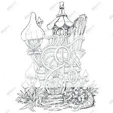 Tree House Coloring Sheets Fairy Tree House Coloring Pages Google
