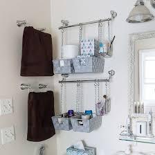 diy hanging bathroom storage bins dwellinggawker