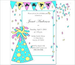 Party Invitation Sample Combined With Invitation Letter For Party