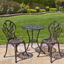 Best Choice Products Cast Aluminum Patio Bistro Furniture Set in