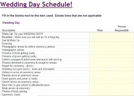 Wedding Day Timeline Excel Wedding Day Of Itinerary Template Nosugarcoating Info