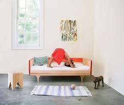 caravan divan  modern solid wood toddler bed  kalon studios us