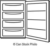 開いた 冷蔵庫クリップアート Csp21901477