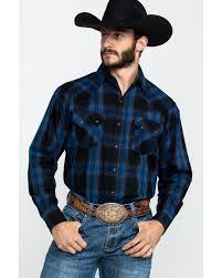 Ely Cattleman Mens Assorted Multi Large Plaid Long Sleeve Western Shirt Big