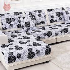 black furniture covers. aliexpresscom buy blackwhite floral sofa cover polycotton chenille jacquard slipcovers with lace patchwork canape for top fashion sp1450 from black furniture covers