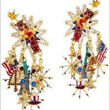 lunch at the ritz jewelry lunch at the ritz july 4th fireworks clip earrings