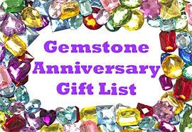 31st wedding anniversary gift gemstone gifts list ideas