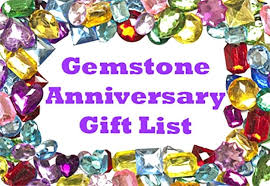 31st wedding anniversary gift gemstone gifts list ideas