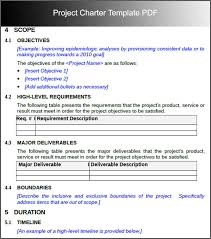 project charter sample project charter template bidproposalform com