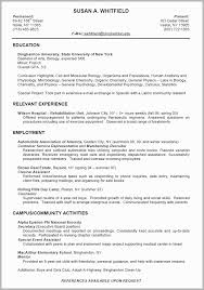 College Grad Resume Examples Resumes For College Graduates Resume