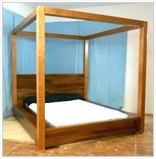 Canopy Bed With Storage Platform Canopy Bed Frame Platform Canopy ...