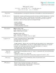 Examples Of Education Resumes Esl Teacher Resume Resume Ideas
