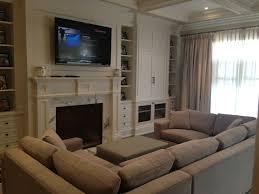 Comfy  Cozy Family Room Sofa Pit Billy Halpern Designs - Comfy living room furniture