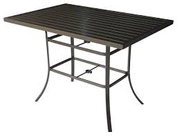 aluminum patio bar pub dining table