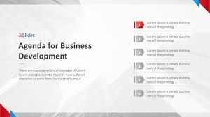 Agenda Business Business Development Agenda Template Free Powerpoint