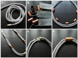 DIY silver rope & copper coupling ...