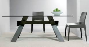 Modern Glass Dining Table Contemporary Beveled Edge Round Modern Glass Dining Table The
