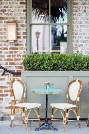 french bistro chairs and table. glass top bistro table with french cafe chairs, transitional, deck/patio chairs and e
